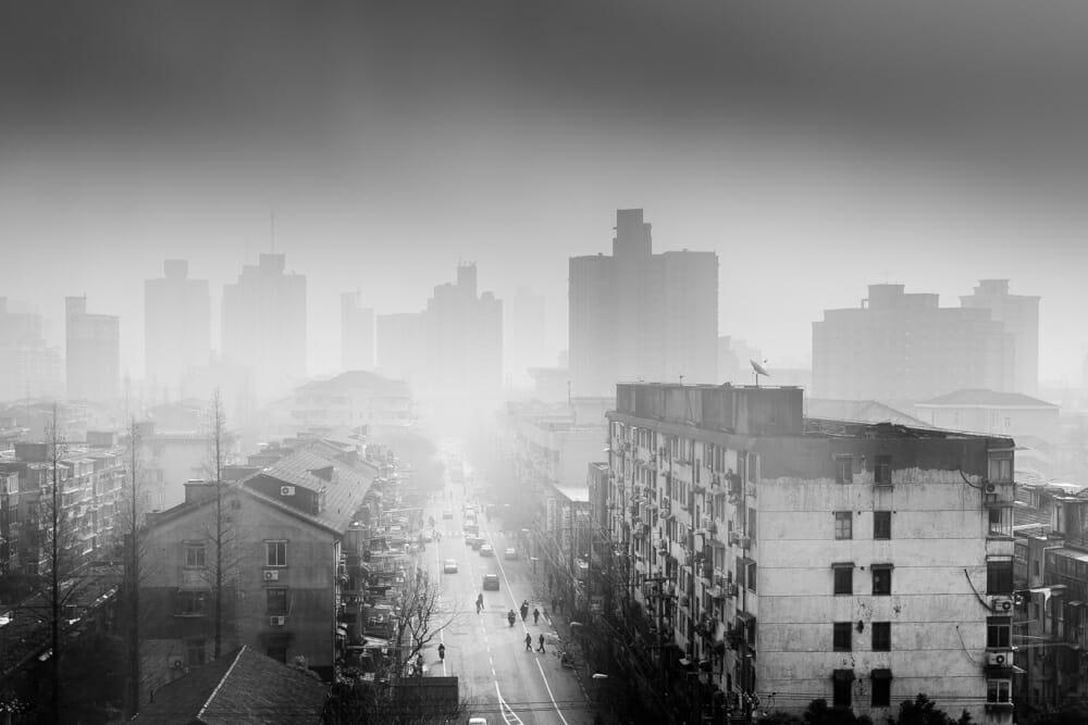 Morning with Smog, Shanghai, David R Munson