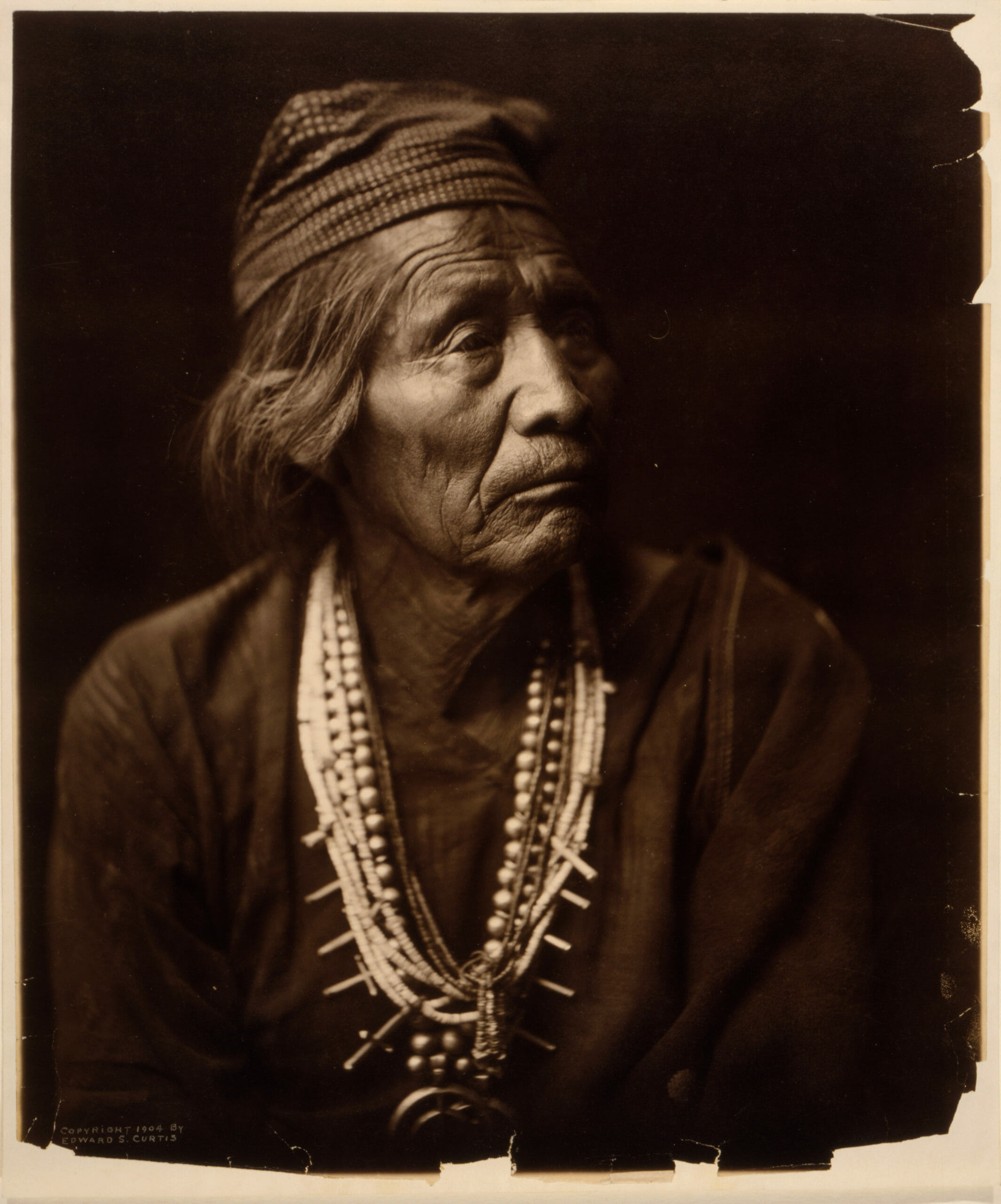 Portrait of Nesjaja Hatali - Navajo Nation, Edward Curtis, 1904, Library of Congress